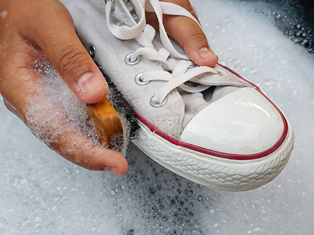 Use a Cleaning Solution for shoes